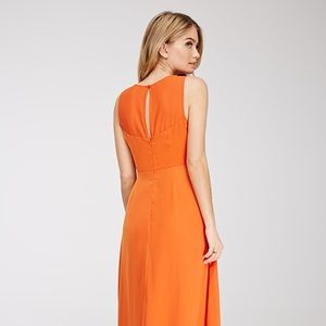GORGEOUS Forever 21 Orange PROM Gown!